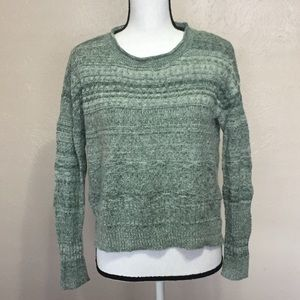 Anthro Sparrow Green Sweater Top